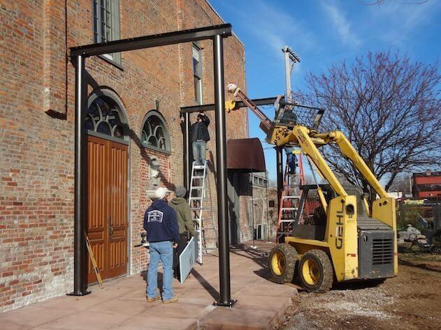 Steel's Up for Firehouse Veranda!