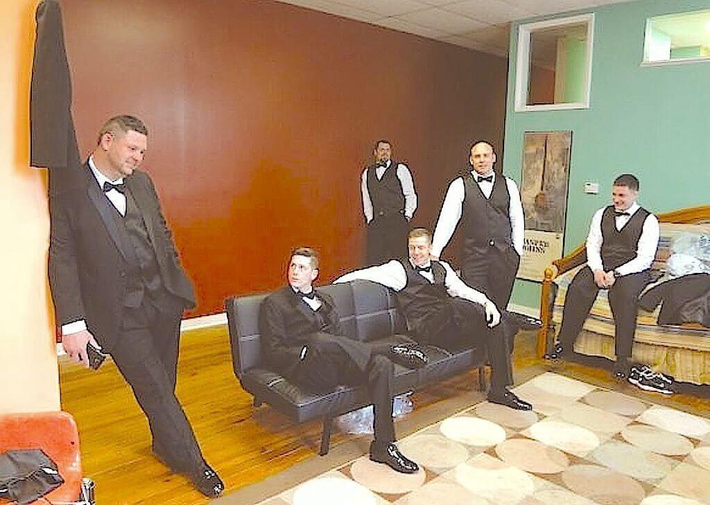 Drew & Groomsmen in Loft