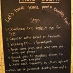 Chalkboard photo booth guest instructions