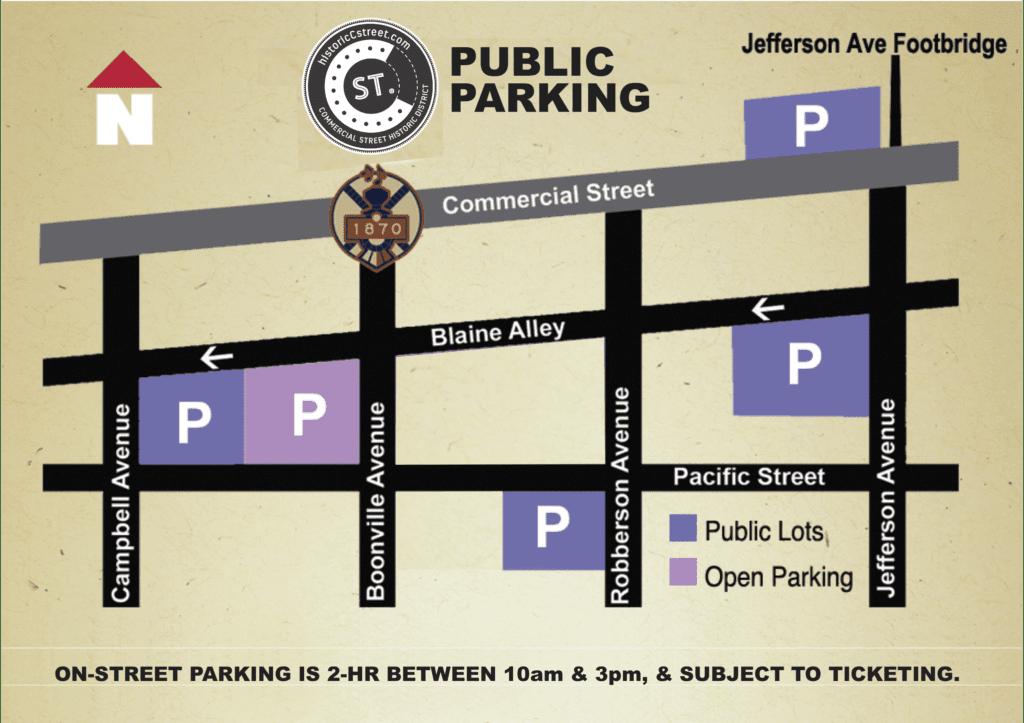 parking map, C-Street Parking